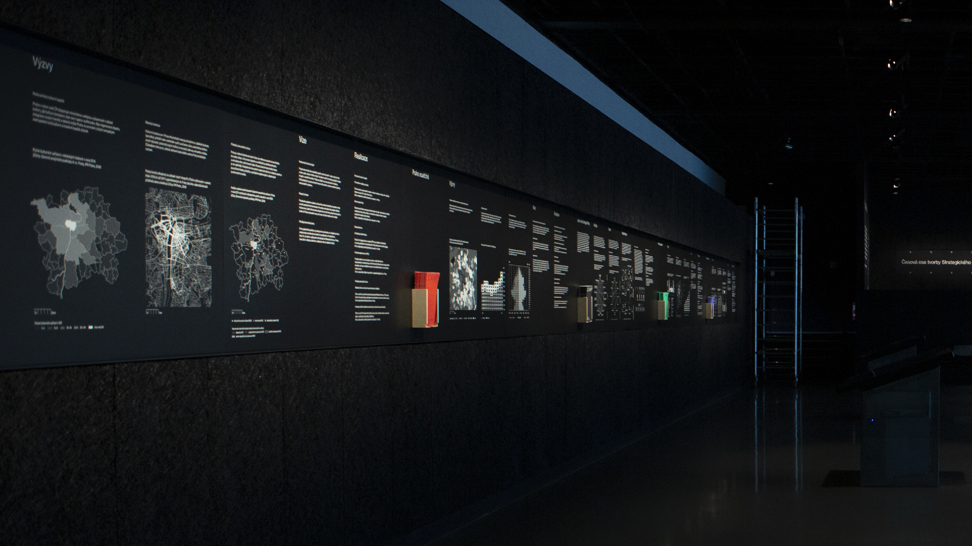 Infographic wall exhibition