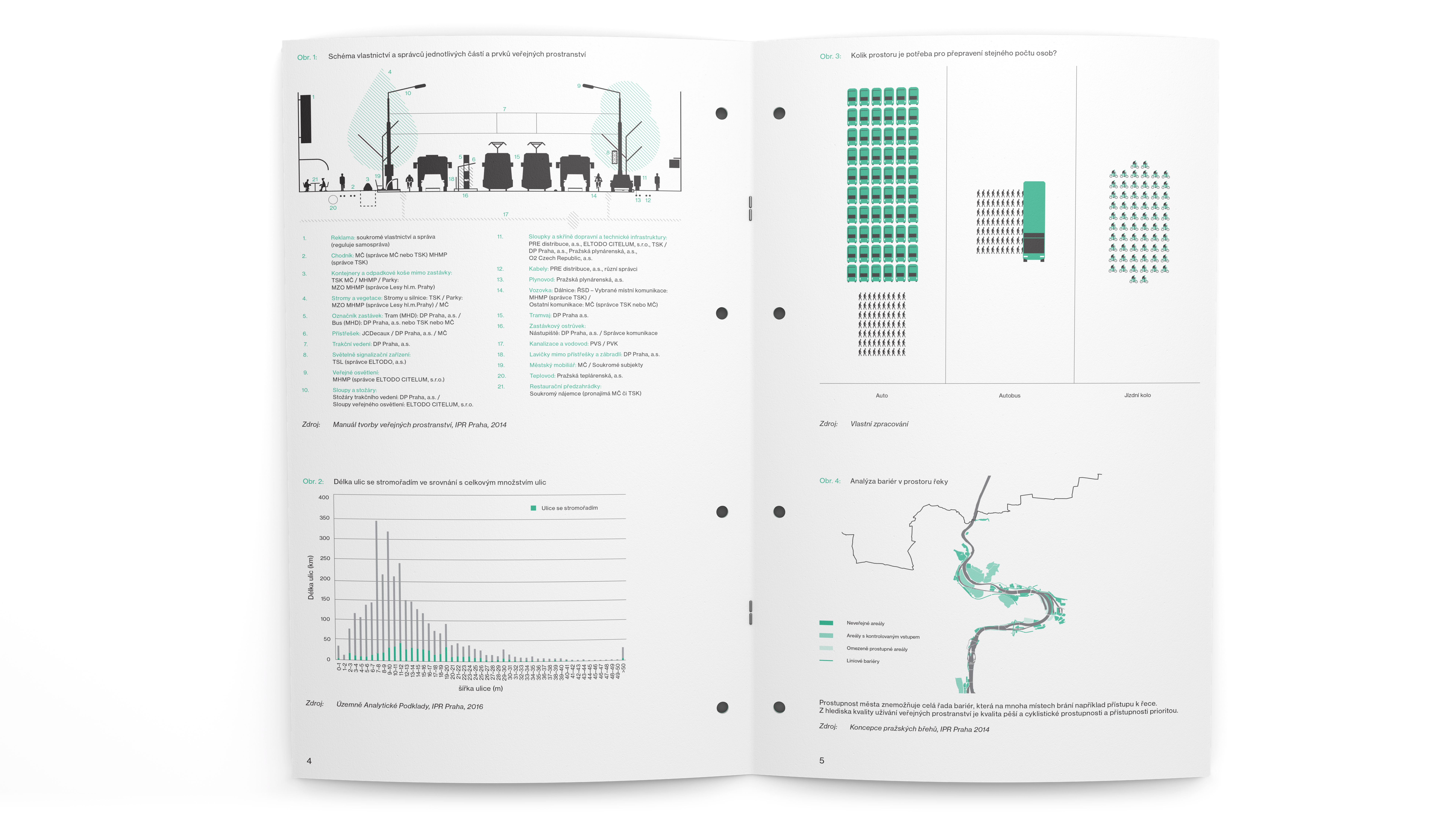 graph illustrations brochure