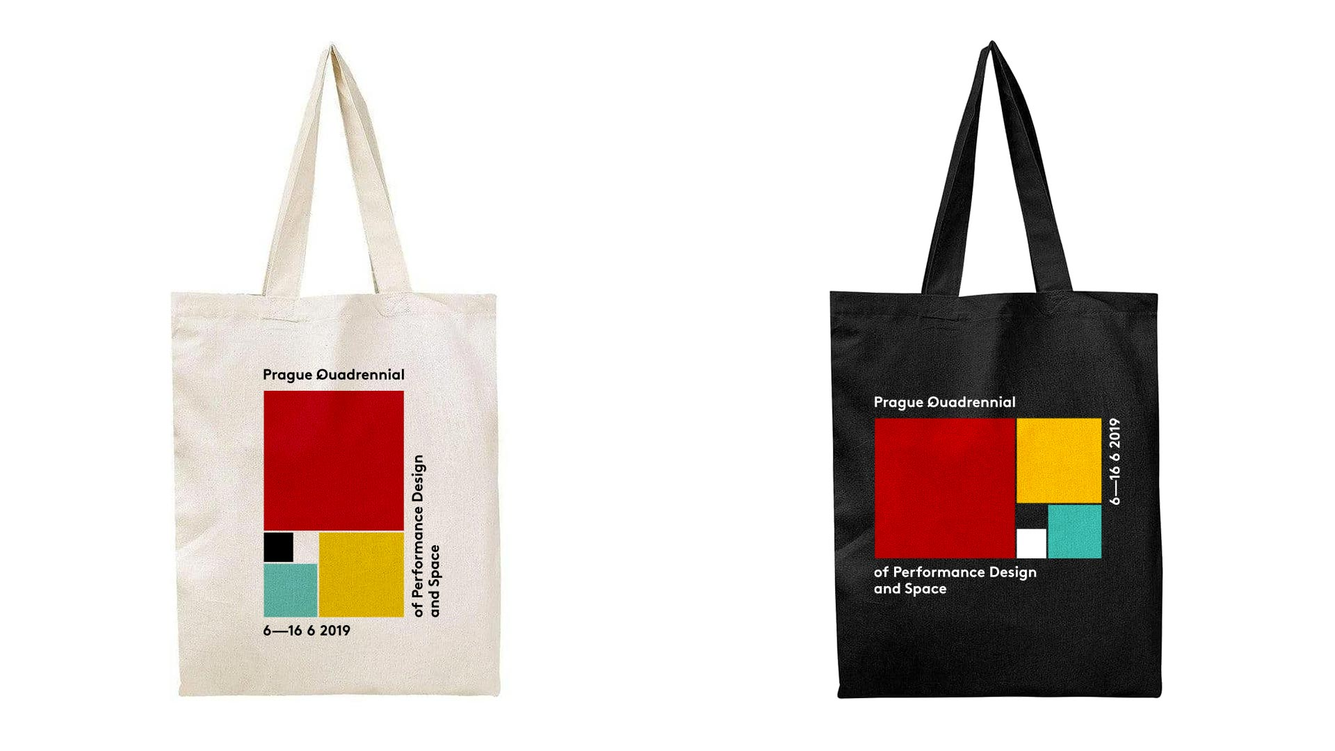 black and white bag with colored golden ratio