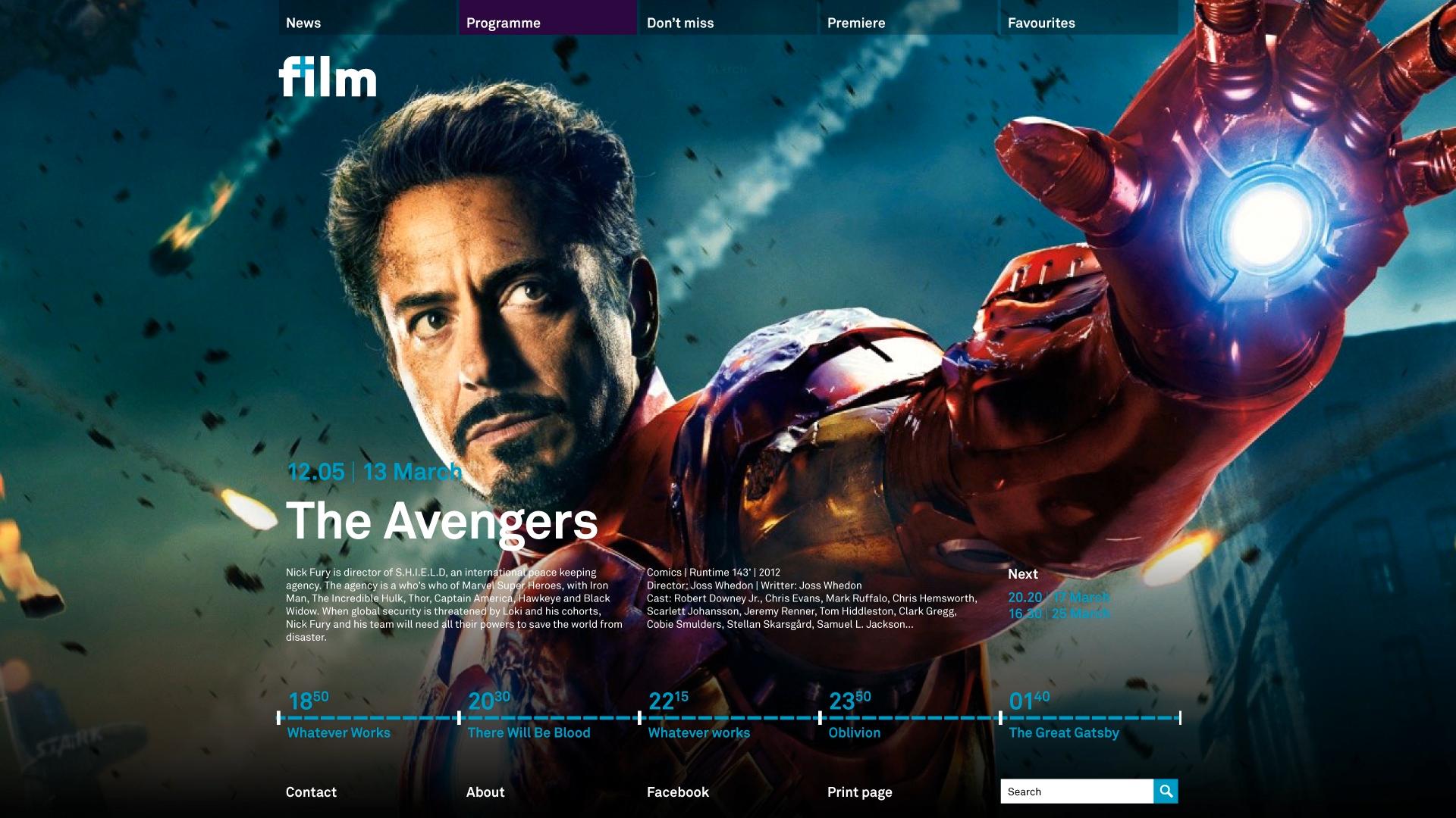 web page design ironman